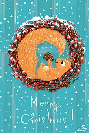 Merry Christmas (2) | Почтовые открытки